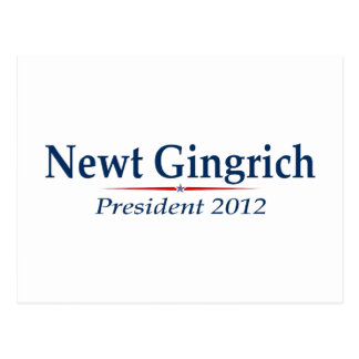 Newt Gingrich President 2012 (v103) Postcard