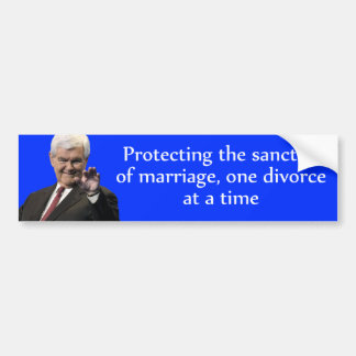 Newt Gingrich: Protecting the Sanctity of Marriage Car Bumper Sticker