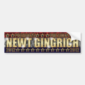 Newt Gingrich Stars and Stripes 2. Bumper Sticker