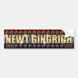 Newt Gingrich Stars and Stripes. Bumper Sticker