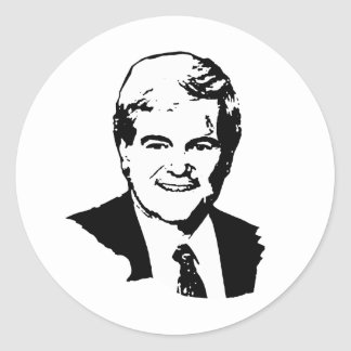 Newt Gingrich Round Stickers