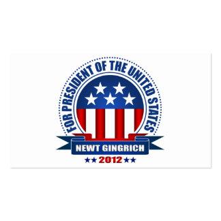 Newt Gingrich Tarjetas De Visita