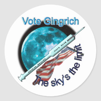 Newt Gingrich - the sky's the limit Round Stickers