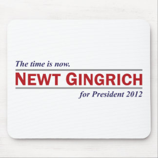 Newt Gingrich The Time is Now President 2012 Mouse Pad