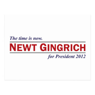 Newt Gingrich The Time is Now President 2012 Post Cards