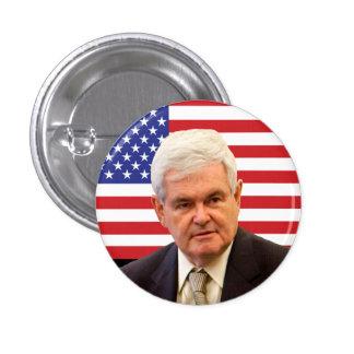 Newt Gingrich & U.S. Flag Button