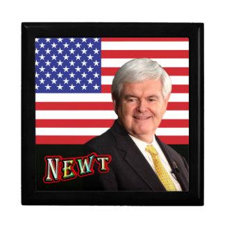 Newt Gingrich & U.S. Flag Jewelry Box