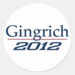 Newt Gingrich (v100) Pegatina Redonda