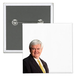 Newt Gingrich - Write Your Own Text Pinback Button
