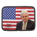 Newt Gingrich y bandera de los E.E.U.U. Planificador