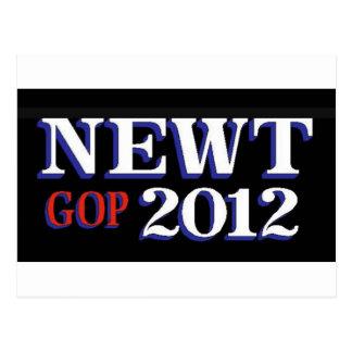 Newt GOP 2012 Postcard