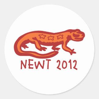 Newt Newt 2012 Round Stickers