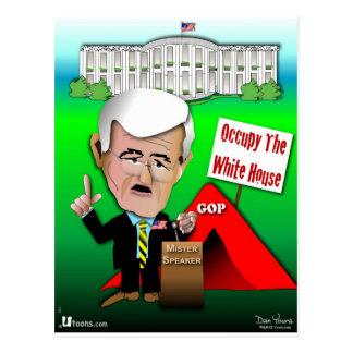 Newt Occupy White House Postcard