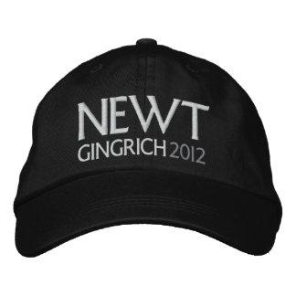 NEWT para el presidente 2012 Gorras Bordadas