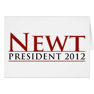 Newt President 2012 Card