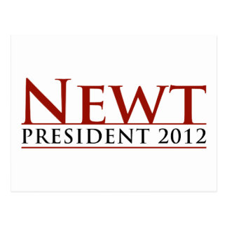 Newt President 2012 Postcard