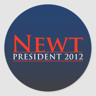 Newt President 2012 Round Stickers