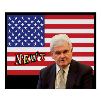 NEWT - Red, White, & Blue Poster