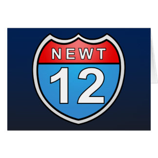 Newt Road to the White House 2012 Card