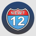 Newt Road to the White House 2012 Classic Round Sticker