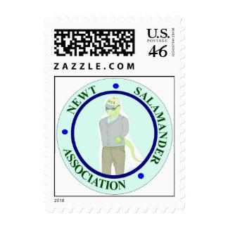 Newt Salamander Association Logo Stamps