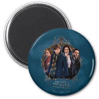 Newt Scamander and Company Art Nouveau Frame Magnet