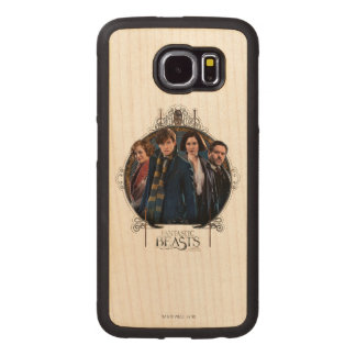 Newt Scamander and Company Art Nouveau Frame Wood Phone Case