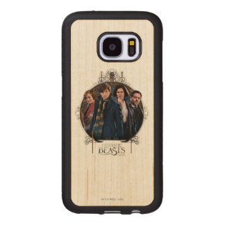 Newt Scamander and Company Art Nouveau Frame Wood Samsung Galaxy S7 Case