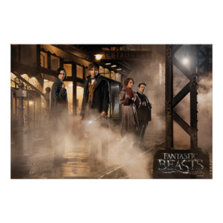 NEWT SCAMANDER™ & Co. At The Train Station Poster