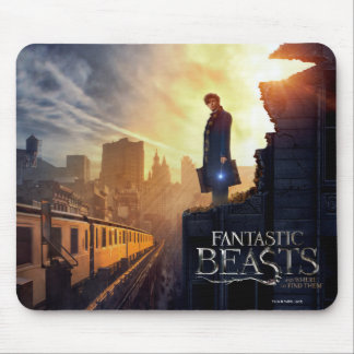 NEWT SCAMANDER™ in Destroyed Building Mouse Pad