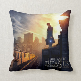 Newt Scamander in Destroyed Building Throw Pillow