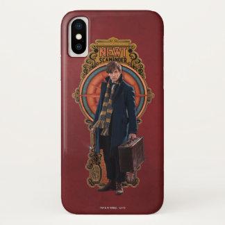 NEWT SCAMANDER™ Standing Art Nouveau Panel iPhone X Case