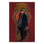 Newt Scamander Standing Art Nouveau Panel Poster