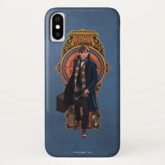 NEWT SCAMANDER™ Walking Art Nouveau Panel iPhone X Case