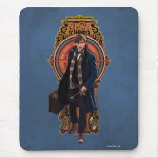 NEWT SCAMANDER™ Walking Art Nouveau Panel Mouse Pad
