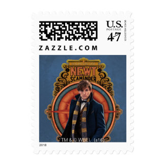 Newt Scamander Walking Art Nouveau Panel Postage