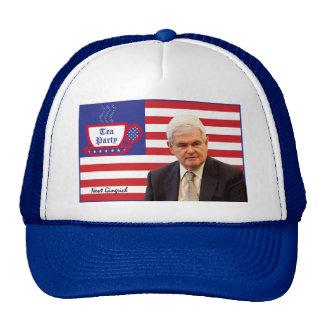 Newt & Tea Party - Red, White, & Blue Trucker Hat