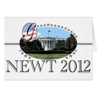 Newt White House 2012 Card