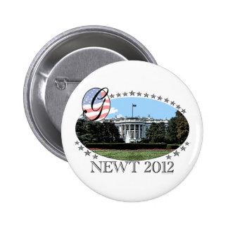 Newt White House 2012 Pinback Button