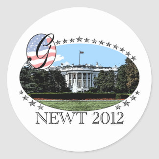 Newt White House 2012 Round Stickers