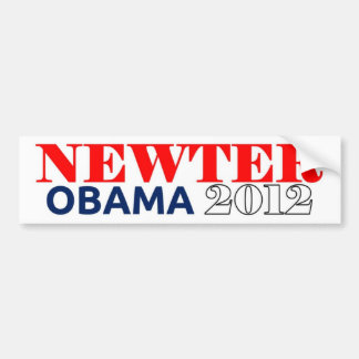 Newter Obama 2012 Dark Blue Car Bumper Sticker