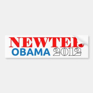 Newter Obama 2012 Light Blue Car Bumper Sticker