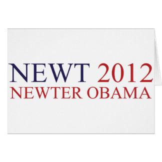 Newter Obama Card