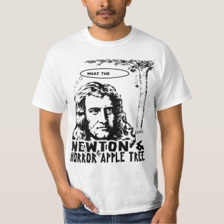 Newton And Horror Apple Tree T-Shirt