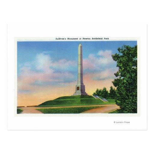 Newton Battlefield Park View Postcard