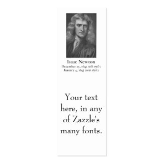 Newton Bookmark (Business Card)