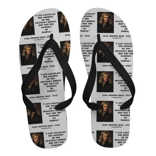 Newton Calculate Motions Madness Of People Quote Flip-Flops