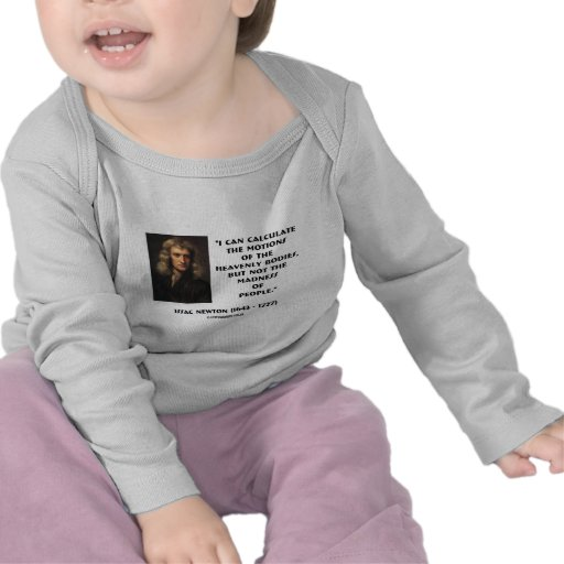 Newton Calculate Motions Madness Of People Quote T-shirts