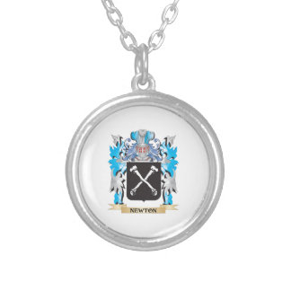 Newton Coat of Arms - Family Crest Silver Plated Necklace