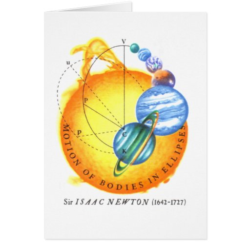 Newton Elliptical Orbits Card